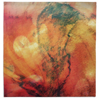 A Leaf In the Wood Autumn Art Abstract Napkin