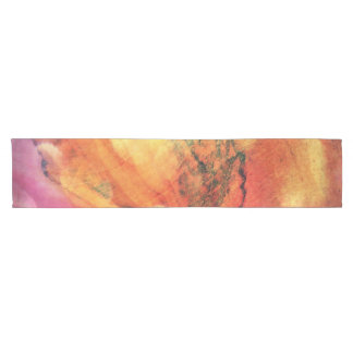 A Leaf In The Wood Autumn Art Abstract Short Table Runner