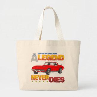 A_Legend_Never_Dies_(Vette S.R.) Large Tote Bag