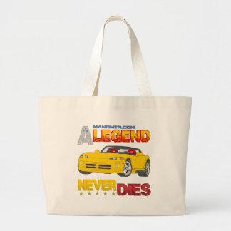 A_Legend_Never_Dies_(VPR) Large Tote Bag