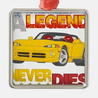 A_Legend_Never_Dies_(VPR) Silver-Colored Square Decoration