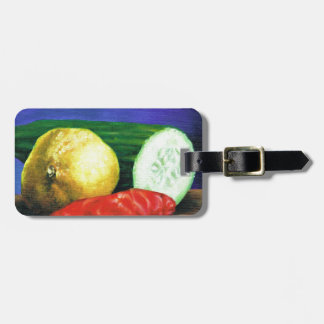 A Lemon and a Cucumber Luggage Tag