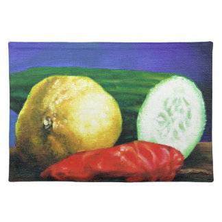 A Lemon and a Cucumber Placemat