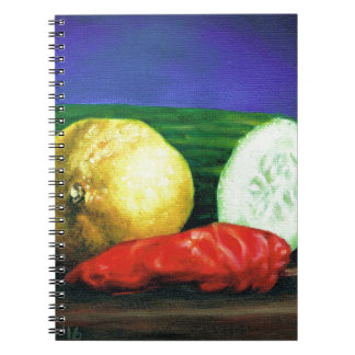 A Lemon and a Cucumber Spiral Note Book