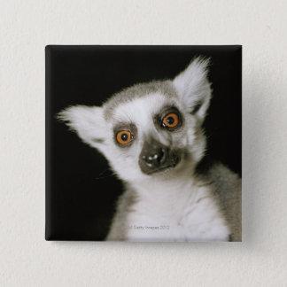 A lemur. 15 cm square badge