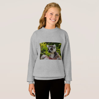 a lemur of Madagascar on Girl's Blend® Sweatshirt