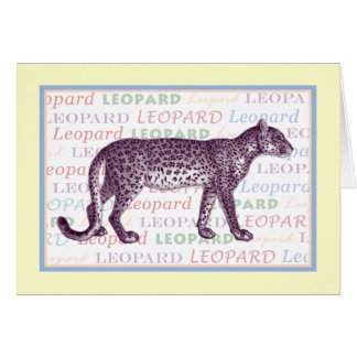 A Leopard Cannot Change its Spots - Carc Greeting Card