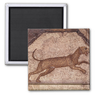 A Leopard Square Magnet