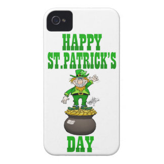 A Leprechaun standing on a pot of gold. iPhone 4 Covers