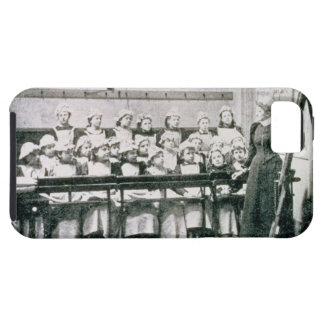 A Lesson in Domestic Science (b&w photo) iPhone 5 Cover
