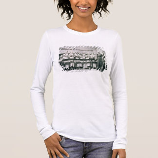 A Lesson in Domestic Science (b&w photo) Long Sleeve T-Shirt