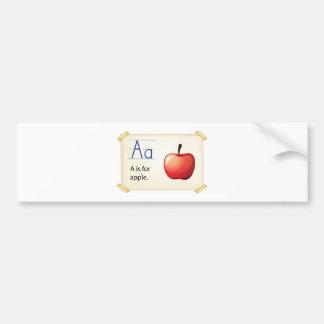 A letter A for apple Bumper Sticker