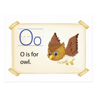 A letter O for owl Postcard