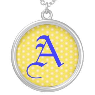 A LETTER ON HONEICOMB NECKLACE