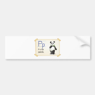 A letter P for panda Bumper Sticker