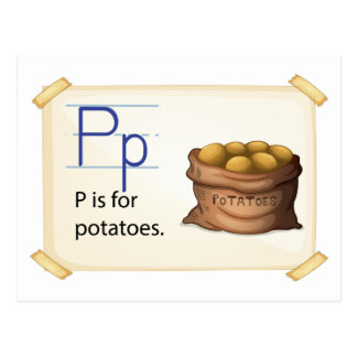 A letter P for potatoes Postcard