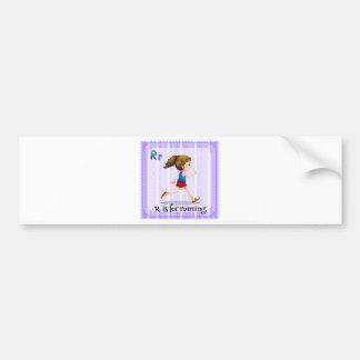 A letter R Bumper Sticker