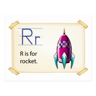 A letter R for rocket Postcard