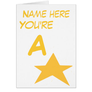 A level congratulations add name front greeting card