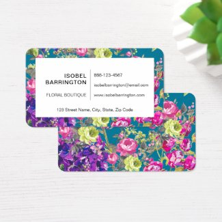 A Liberty Style English Cottage Garden Business Card