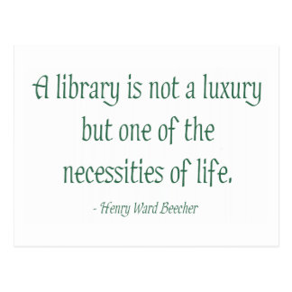 A Library Is Not A Luxury Postcards