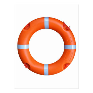 A life buoy for safety at sea postcard