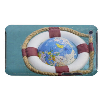 A life preserver and world globe floating iPod Case-Mate case