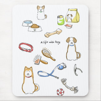 A life with Dogs Mouse Pad