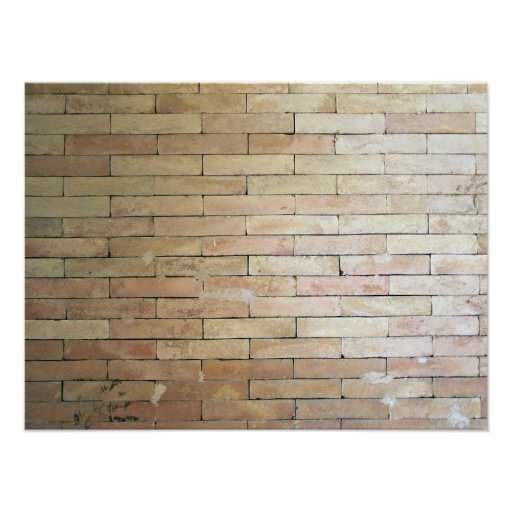 A Light Coloured Brick Wall Poster