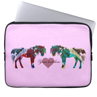 A Light Pink Ponies Laptop Sleeve