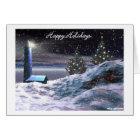 A lighthouse Christmas Card