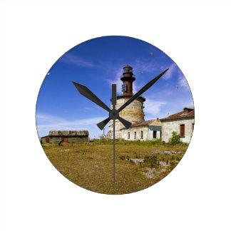 A lighthouse on the islet of Keri, Estonia Round Clock