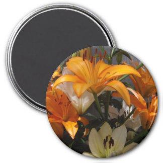 A Lily Bouquet 7.5 Cm Round Magnet
