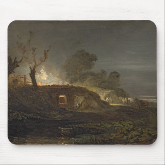 A Lime Kiln at Coalbrookdale, c.1797 (oil on panel Mouse Mat