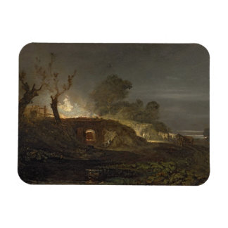 A Lime Kiln at Coalbrookdale, c.1797 (oil on panel Rectangular Photo Magnet