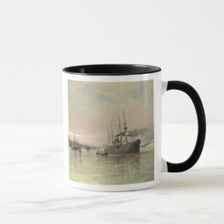 A Liner and Other Shipping before the Statue of Li Mug