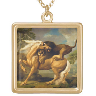 A Lion Attacking a Horse, c.1762 (oil on canvas) Pendant