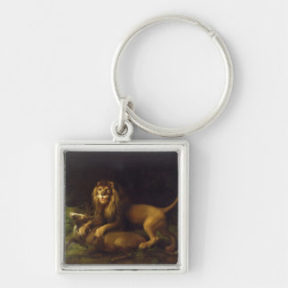 A Lion Attacking a Stag, c.1765 (oil on canvas) Key Ring
