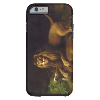 A Lion Attacking a Stag, c.1765 (oil on canvas) Tough iPhone 6 Case