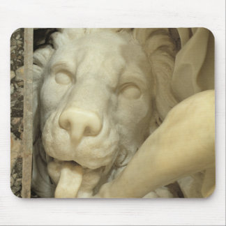 A Lion licking the foot of Daniel Mouse Mat