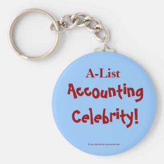 A-List Accounting Celebrity Key Chain