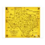 A Literary map of Texas by Dallas Pub Lib (1955).j Post Card