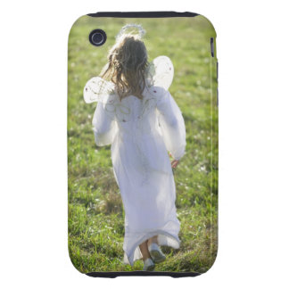 A little angel skips away from the viewer in a iPhone 3 tough case