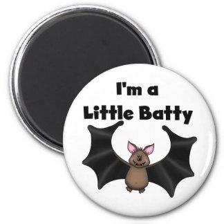 A Little Batty 6 Cm Round Magnet