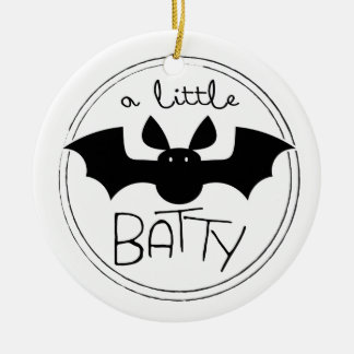 A Little Batty Christmas Ornament