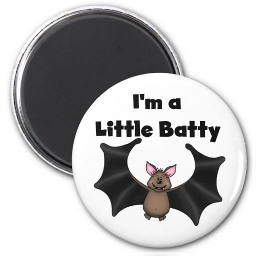 A Little Batty Refrigerator Magnets