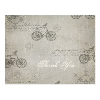 A Little Birdie Told Me So Bicycle Thank you Postcard