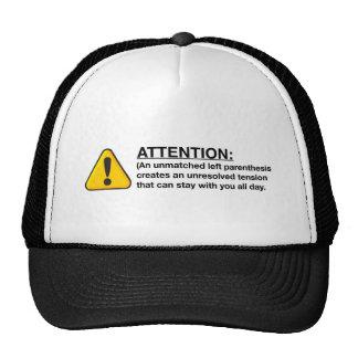 A little bit about parenthesis hat