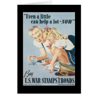 A Little Can Help World War 2 Stationery Note Card
