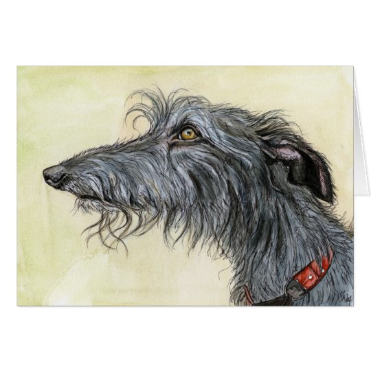 A Little Coincidence -Lurcher Dog Art Card